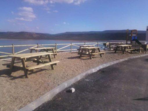 Mesa picnic, madera de pino flandes tratada