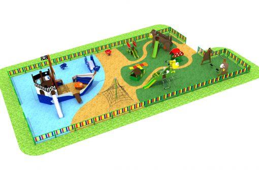 Infografía parque infantil