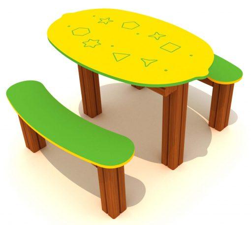 Mesa para parque infantil