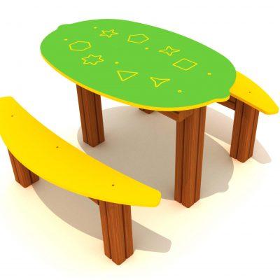 Mesa para parques infantiles