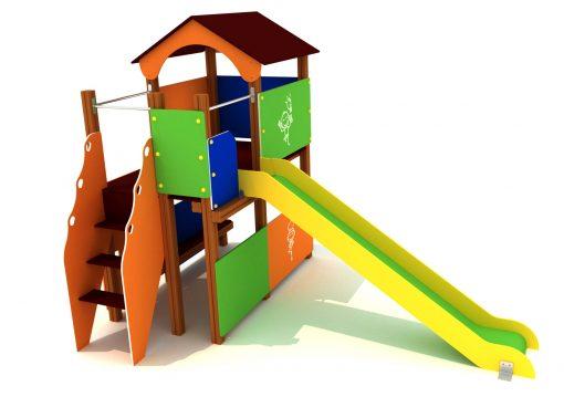 Parque infantil en forma de casa