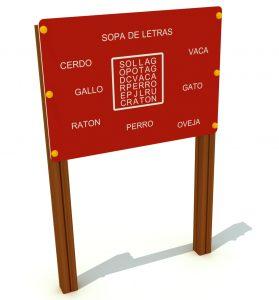 Panel interactivo sopa de letras