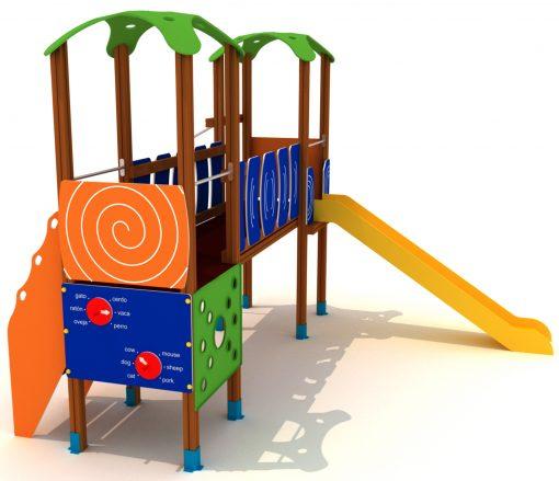 Parque infantil con paneles interactivos