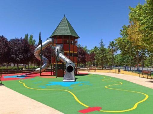 Instalación de Parque Infantil y Suelo de Caucho EPDM Úbeda (Jaén)